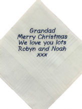 Personalised Mens Handkerchief - Hankie